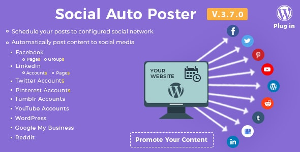Download Social Auto Poster v3.7.0 - WordPress Plugin Free / Nulled