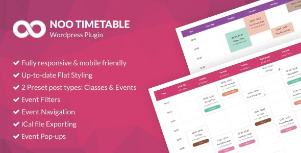 Download Noo Timetable v2.0.6.2 - Responsive Calendar & Auto Sync Free / Nulled