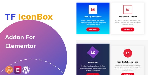 Download TF IconBox Addon for elementor v1.0.0 Free / Nulled