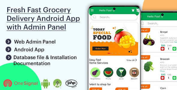 Download Fresh Fast Grocery Delivery Native Android App with Interactive Admin Panel v1.2 Free / Nulled