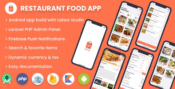 Download Single restaurant food ordering app v1.0 - Android App with Admin Panel Free / Nulled