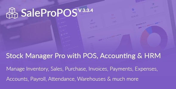 Download SalePro v3.3.3 - Inventory Management System with POS, HRM, Accounting Free / Nulled