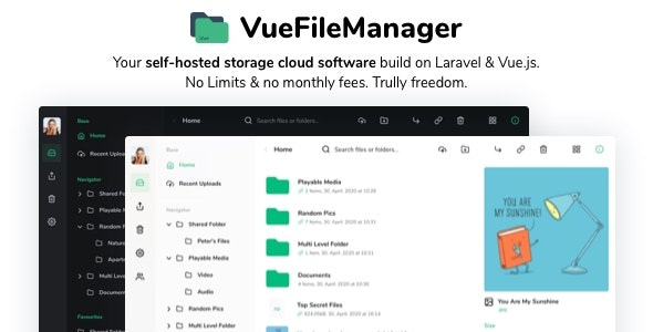 Download Vue File Manager with Laravel v1.6.3 - Your Private Cloud Free / Nulled
