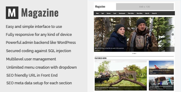 Download Magazine v1.0 - Online News and Magazine CMS Free / Nulled