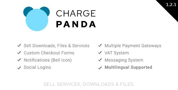 Download ChargePanda v1.2.2 - Sell Downloads, Files and Services (PHP Script) Free / Nulled