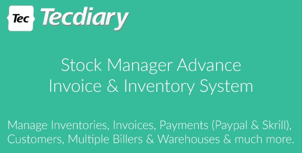 Download Stock Manager Advance (Invoice & Inventory System) v3.4.35 Free / Nulled