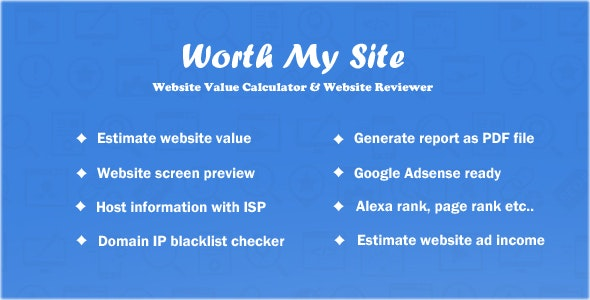 Download Worth My Site v1.9.9 - Website Value Calculator Free / Nulled