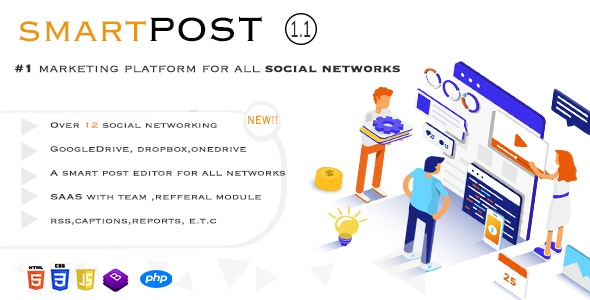 Download Smart Post v1.3 - Social Marketing Tool Free / Nulled