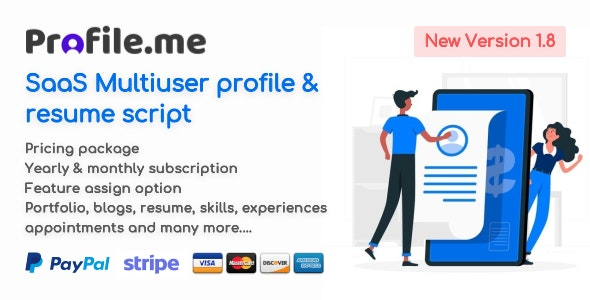 Download Profile.me v1.8 - Saas Multiuser Profile & Resume Script Free / Nulled
