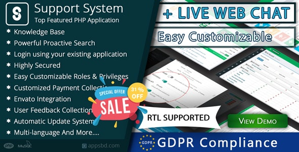 Download Best Support System v2.2.2 - Live Web Chat & Client Support Desk & Support Ticket Help Centre Free / Nulled