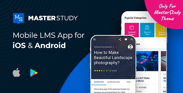 Download MasterStudy LMS Mobile App v1.1.0 - Flutter iOS & Android Free / Nulled
