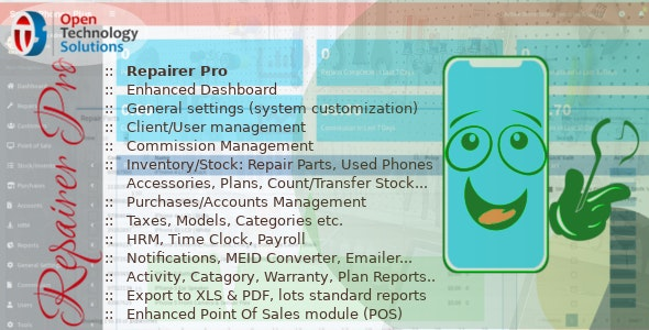 Download Repairer Pro v1.2.0 - Repairs, HRM, CRM & much more Free / Nulled