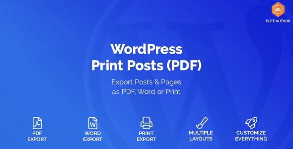 Download WordPress Print Posts & Pages (PDF) v1.5.0 Free / Nulled