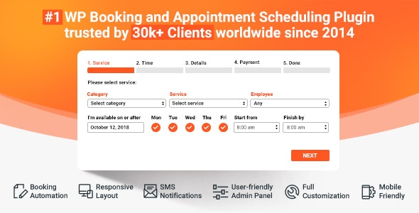Download Bookly Booking Plugin v18.5 + Addons Free / Nulled