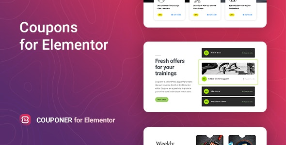 Download Couponer v1.0.0 - Discount Coupons for Elementor Free / Nulled