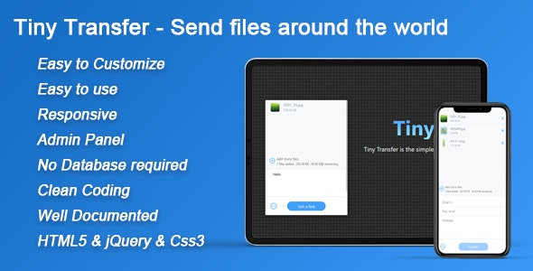 Download TinyTransfer v1.0 - Send files around the world Free / Nulled