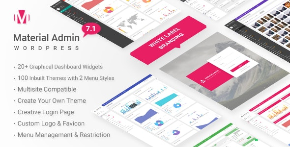 Download Material v7.1 - White Label WordPress Admin Theme Free / Nulled