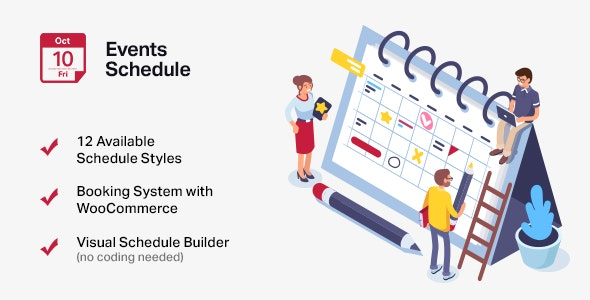Download Events Schedule v2.5.17 - Events WordPress Plugin Free / Nulled