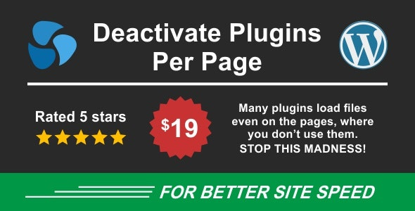 Download Deactivate Plugins Per Page v1.11.0 - Improve WordPress Performance Free / Nulled