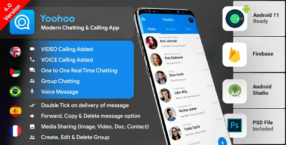 Download YooHoo v7.0 - Android Chatting App with Voice/Video Calls Free / Nulled