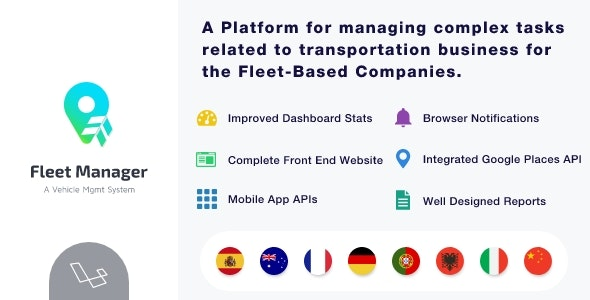 Download Fleet Manager v4.0.3 - Vehicle Management & Booking System Free / Nulled