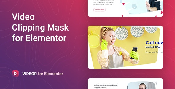 Download Videor v1.0.2 - Video Clipping Mask for Elementor Free / Nulled