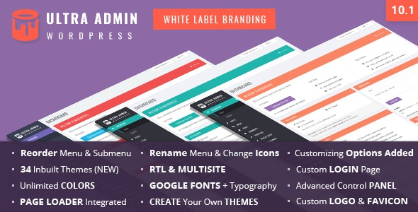 Download Ultra WordPress Admin Theme v10.1 Free / Nulled
