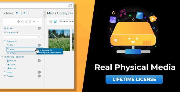 Download WordPress Real Physical Media v1.2.0 - Physical Media Folders & SEO Rewrites Free / Nulled