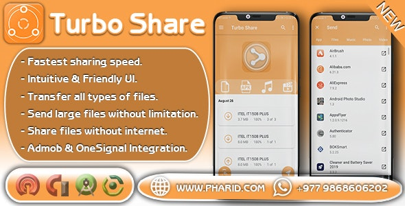 Download Turbo Share v1.6 - ShareIt Clone | Ultimate Transfer & Share Free / Nulled