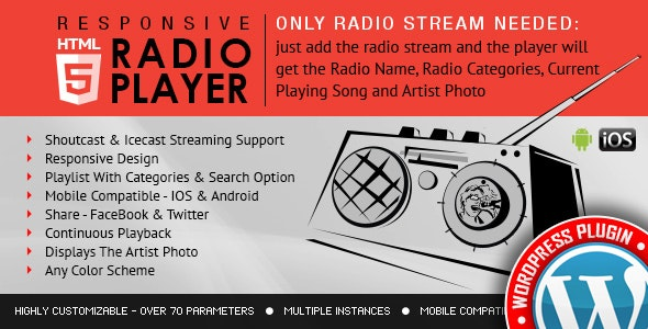 Download Radio Player Shoutcast & Icecast v3.3.4 Free / Nulled
