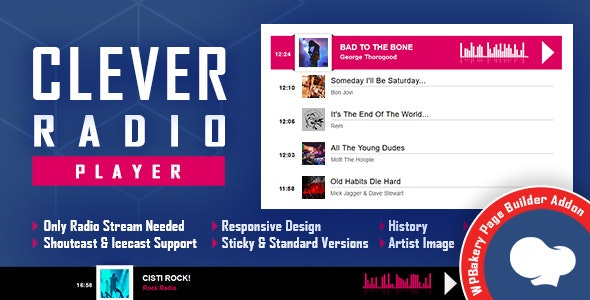 Download CLEVER v1.0 - Shoutcast and Icecast Radio Player for WPBakery Page Builder Free / Nulled