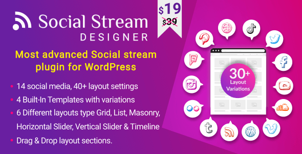 Download Instagram Facebook Twitter Feed v1.1.3 - Advanced WordPress Social media Feed Grid Gallery Plugin Free / Nulled