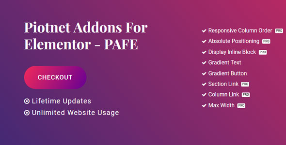 Download Piotnet Addons Pro For Elementor v6.0.5 Free / Nulled