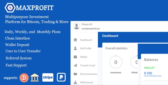 Download Max Profit v2.1 - Online Multipurpose Investment Platform Free / Nulled