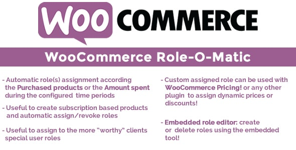 Download WooCommerce Role-O-Matic v8.0 Free / Nulled