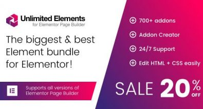 Download Unlimited Elements for Elementor Page Builder v1.4.42 Free / Nulled