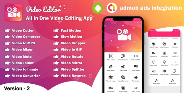 Download Android Video Editor v2.0 - All In One Video Editor App (64bit) Free / Nulled