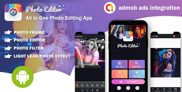 Download Photo Editor v1.0 - All In One Photo Editing App With Admob Ads Free / Nulled