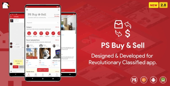Download PS BuySell v2.8 - Olx, Mercari, Offerup, Carousell, Buy Sell Clone Classified App Free / Nulled