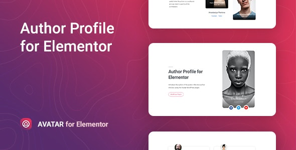 Download Avatar v1.0.0 - Author Box for Elementor Free / Nulled