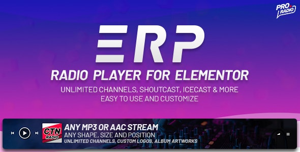 Download Erplayer v1.0.6 - Radio Player for Elementor Free / Nulled
