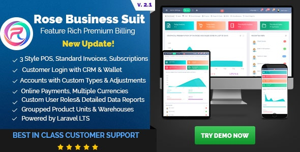 Download Rose Business Suite v2.1 - Accounting, CRM and POS Software Free / Nulled