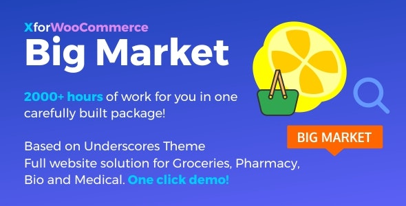 Download Big Market for WooCommerce and WordPress v1.4.2 - Full website solution! Free / Nulled