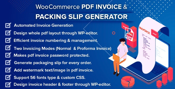 Download WooCommerce PDF Invoice & Packing Slip Generator v1.4.0 Free / Nulled