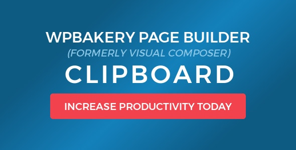 Download WPBakery Page Builder (Visual Composer) Clipboard v4.5.6 Free / Nulled