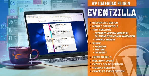 Download EventZilla v1.2.1 - Event Calendar WordPress Plugin Free / Nulled