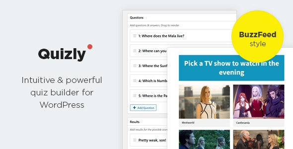 Download Quizly v1.0.2 - Intuitive & Powerful Quiz Plugin for WordPress Free / Nulled