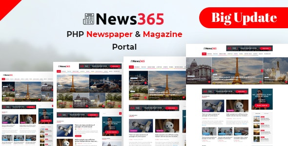 Download News365 v6 - PHP Newspaper Script Magazine Blog with Video Newspaper Free / Nulled