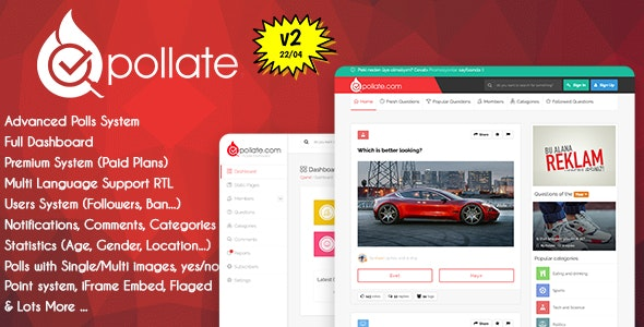 Download Pollate v2.0 - Premium Polls and Voting Platform Free / Nulled