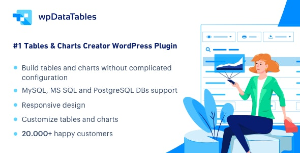 Download wpDataTables v3.0.2 - Tables and Charts Manager for WordPress Free / Nulled
